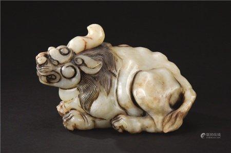 清代(1644-1911) 玉雕瑞兽摆件