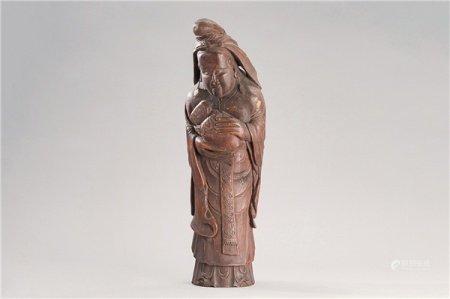 清代(1644-1911) 竹雕人物立像