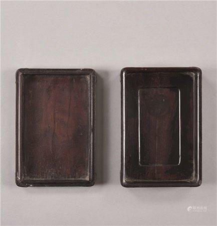 清代(1644-1911) 紫檀长方砚盒