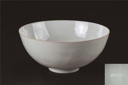 薄胎二龙戏珠纹碗