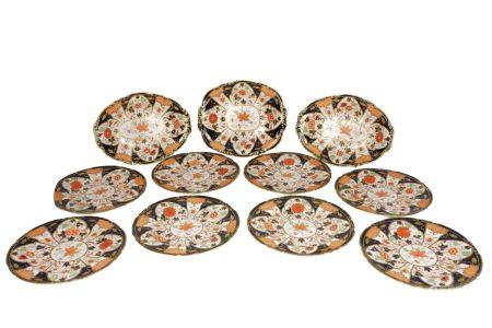 A group of eleven pieces of Japan pattern Royal Crown Derby porcelain, 20th century, to comprise