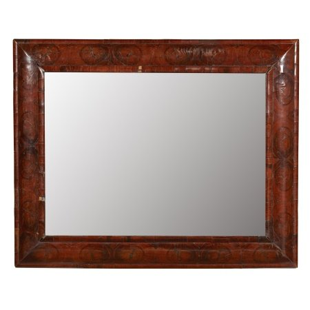 WILLIAM AND MARY WALNUT OYSTER VENEERED MIRROR LATE 17TH CENTURY