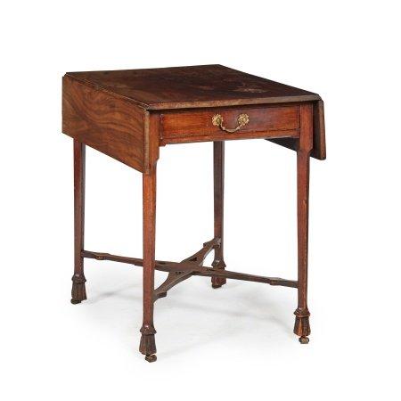GEORGE III MAHOGANY DROP-LEAF TEA TABLE MID 18TH CENTURY
