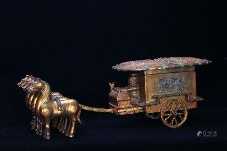 A Bronze Gilt Cargo