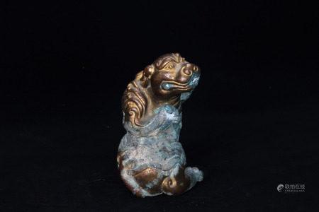 A Bronze Gilt Beast