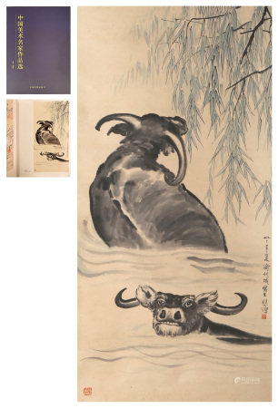 A Chinese Scroll Painting By Xu Beihong
