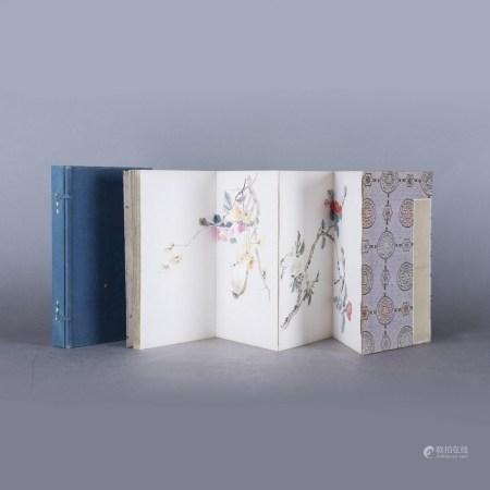 ANONYMOUS, CHINESE ALBUM, BIRDS & FLOWERS, 19/20TH CENTURY