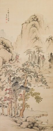 ANONYMOUS(QING DYNASTY), LANDSCAPE AND FIGURE