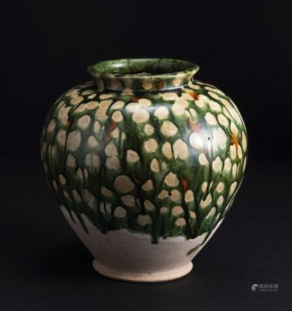唐三彩萬年壺