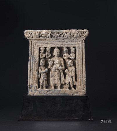 犍陀羅如來與信徒像