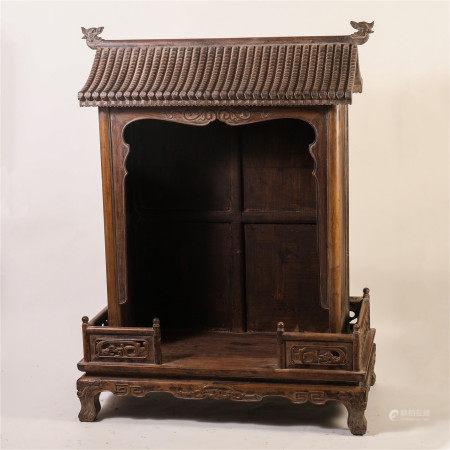 CHINESE HARDWOOD CARVED BUDDHIST SHRINE TABLE ITEM