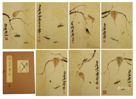 CHINESE PAINTING ALBUM OF FLOWER AND INSECTS