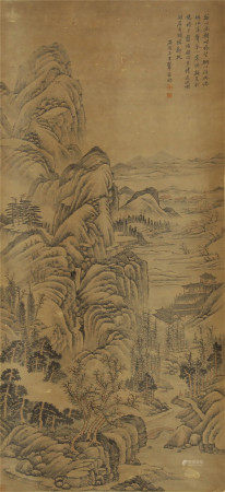 CHINESE PAINTING OF MOUNTAIN VIWES BY WANG HUI
