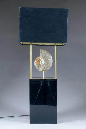 "Grande Lampe de Salon ""Ammonite""."
