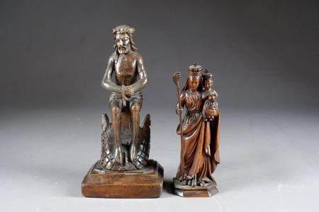 Christ aux outrages et Vierge à l'enfant.