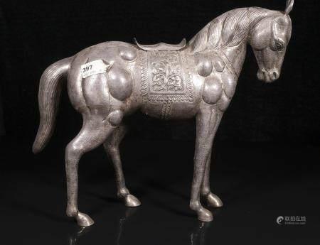 qing dynasty Silver horse