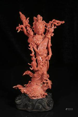 Red coral Goddess of mercy