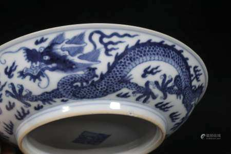 Qianlong dragon plate in Qing Dynasty