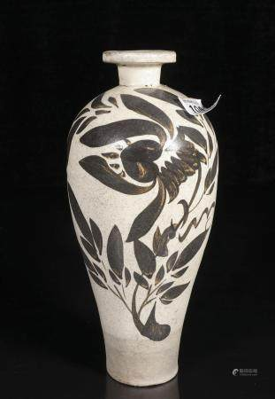 song dynasty Jizhou kiln plum bottle