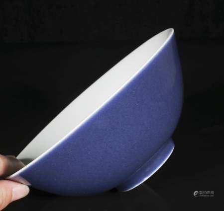 Daoguang blue glaze bowl