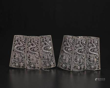 qing dynasty Silver sleeves