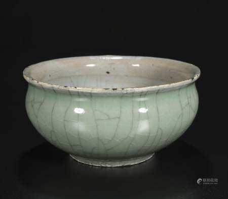 The qing dynasty Bean green glazed incense burner