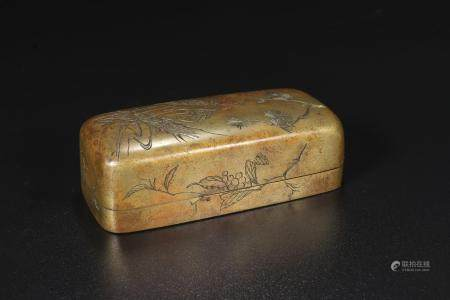 qing dynasty Gold-plated copper seal box