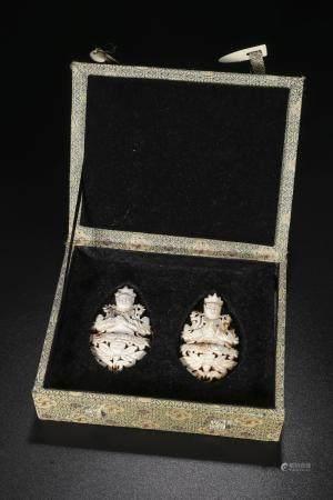 Liao Jin dynasty Jade Buddha pair