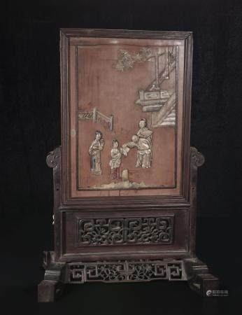 qing dynasty Shoushan Stone spring Palace picture insert scr