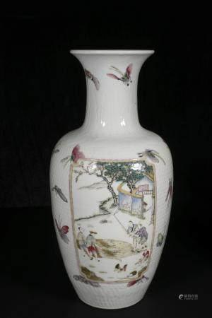 republic Powder enamel vase with avalokitesvara design