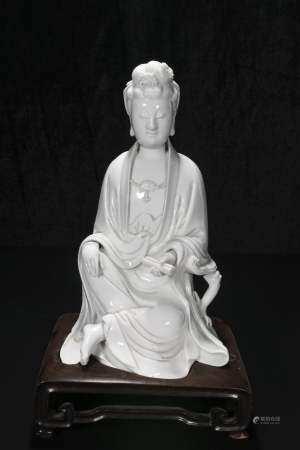 qing dynasty Bo ji Yu Ren Dehua guanyin