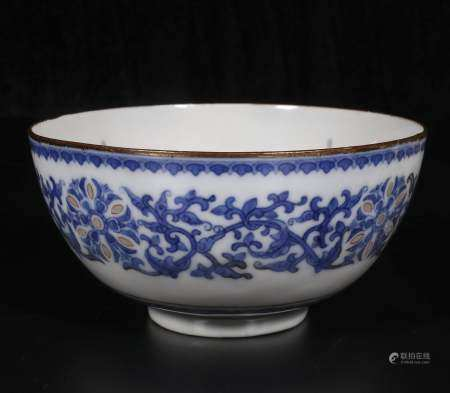 Mid-20th century Blue and white exquisite bowl