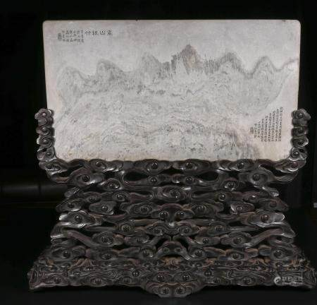 qing dynasty Marble plaque