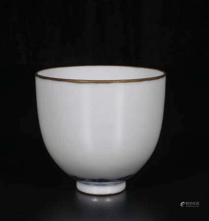 Qing Dynasty Kangxi blue and white cups