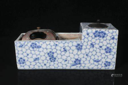 qing Dynasty blue and white room decorations