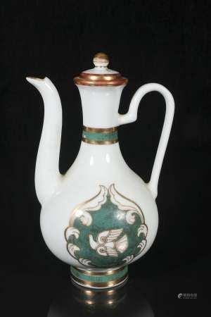Mid-twentieth century peace dove wine pot