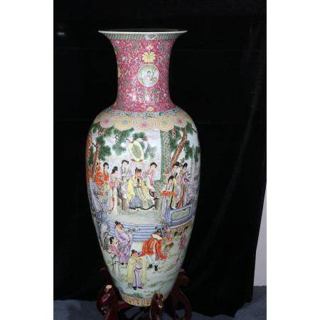 A Pair of Large Famille Vase