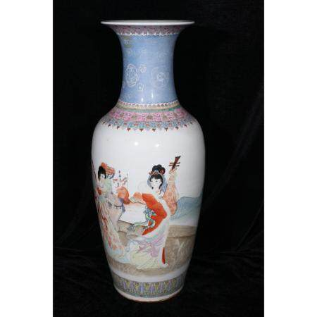 Vase With Women portrayed and inscription