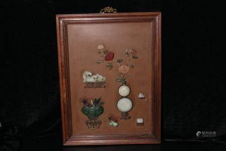 Qing Dynasty Jade hanging screen