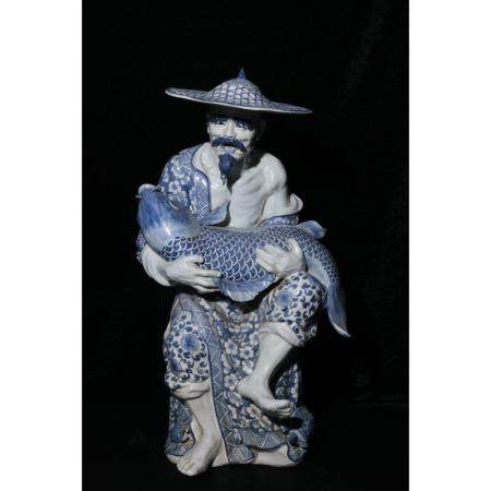 republic Blue and white fishing weng deli decorations