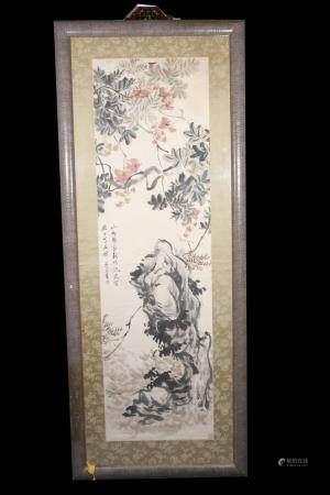 qing dynasty Wu rang zhi Flower and-bird painting