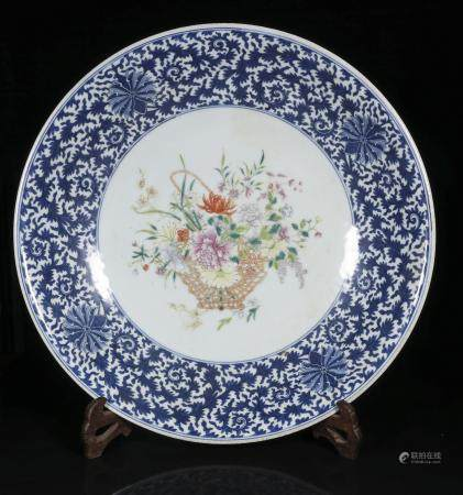 republic Powder enamel plate with floral design