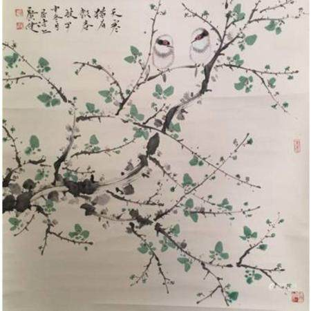 """There are still spring branches in the cold weather"" Jia Gu"