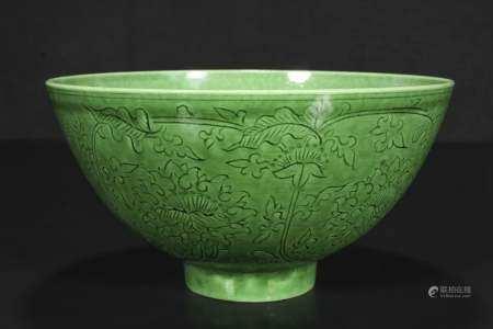 qing dynasty Clear green glaze bowls