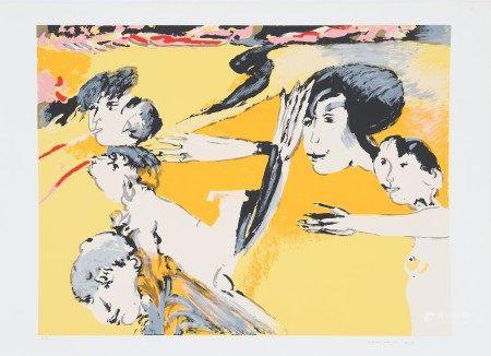 Remo Brindisi (1918-1996) Artiste peintre italien Lithographie polychrome. Signé en [...]
