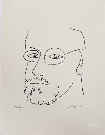 Autoprotrait d'Henri Matisse (1869-1954) Célébre peintre, dessinateur, graveur et [...]