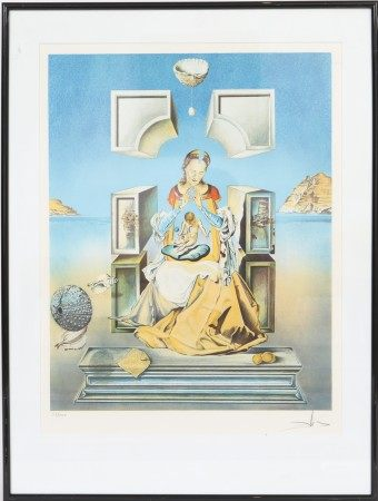 """""""Vierge à l'enfant"""" de Salvador Dali (1904-1989) Artiste peintre espagnol, l'un des [...]"""