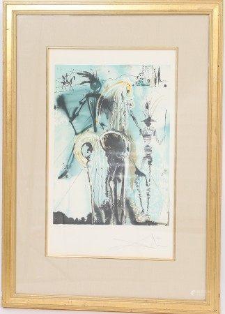 """""""Don Quichotte"""" de Salvador Dali (1904-1989) Artiste peintre espagnol, l'un des [...]"""