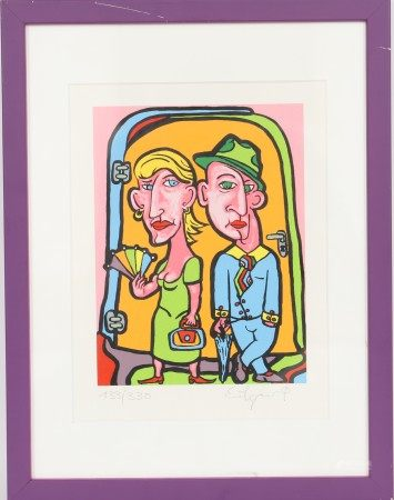 Kohn Edgar (né en 1970) Artiste peintre luxembourgeois Lithographie polychrome [...]
