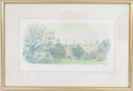 Wadham college, Oxford The Fellow's Garden de Sir Hugh Casson PRA [...]
